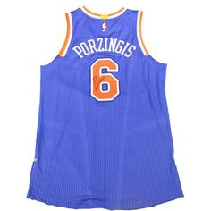 Kristaps Porzingis Signed New York Knicks Royal Blue Authentic Jersey