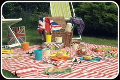 All the beautiful accessories you need for that perfect picnic, including vintage games and books, at Peter & Jane, vintage & retro outdoor accessories.