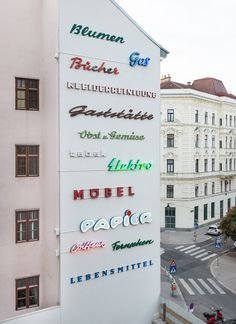 """Aptly named """"Urban Signs"""" this is an archive of pure Viennese typographic DNA."""