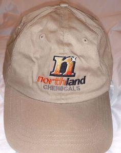 NORTHLAND-CHEMICALS-HAT-LANDS-END-Manufacturing-Baseball-Cap-Khaki-Orange-Black
