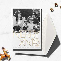 Avant-Garde Christmas (Tall) - Gold - Paperless Post