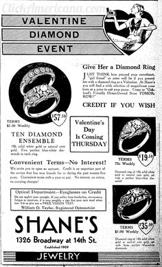 valentine jewelry ads