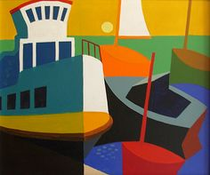 george anderson. great one from maine. Rockport Massachusetts, Picasso Cubism, Math Art, Art Academy, Color Studies, Shape And Form, Art Lessons, Vintage Posters, Art Projects