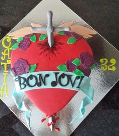 Bon Jovi cake - For all your cake decorating supplies, please visit craftcompany.co.uk
