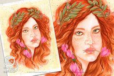 Mesi Illustrati: Novembre #visodidonna #ritratto #illustrazione #bellezza #fiori #frutti #foglie #mesidellanno