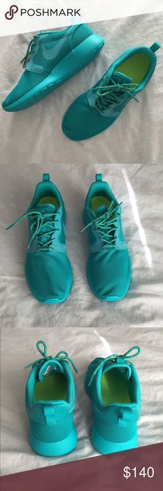 Nike Hyperfuse Roshe Run Turbo Green New with box! Never worn. No trades. Nike Shoes Sneakers