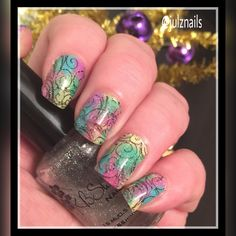Essie polishes with Pueen Stamping