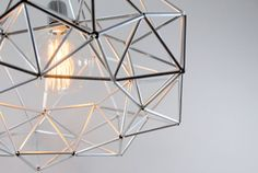 Diamond star Himmeli light pendant geometric silver the original himmeli art panselinos