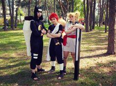 Naruto cosplay / vrnfest 2016 Gaara, Temari, Kankuro