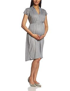 Bellybutton - Vestido premamá regular fit de manga corta para mujer, talla 42, color azul (naval blue 1501)
