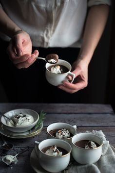 Recipe: Chocolate Orange Pot de Crème with Rosemary Chantilly