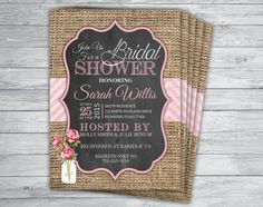 Rustic Country Burlap Lace Twine Wedding Invites Invites wedding