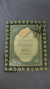 Made from jewelry Kirks Folly Dragonfly Picture Frame Enamel GNK | eBay