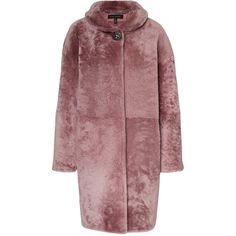 ESCADA Coat Lynne ($2,370) ❤ liked on Polyvore featuring outerwear, coats, lambskin coat, escada, flare coat, cocoon coat and slim fit coat