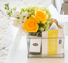 Check out this adorable May Day gift basket using our clear Lookers Box! | A Piece of Toast