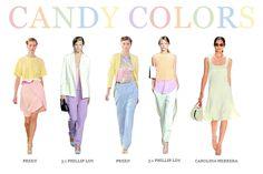Catwalk candies #pastel trend