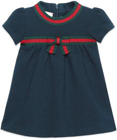 a7fa78734149d Gucci Kids Web Bow Midi Dress - Farfetch