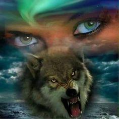 The Spirit Realm Animal Spirit Guides, Wolf Spirit Animal, American Indian Art, Native American Art, Wolves And Women, Fantasy Wolf, Native American Pictures, Wolf Wallpaper, Wolf Love