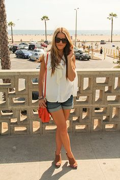 Julia from Gal Meets Glam in Citizens of Humanity shorts