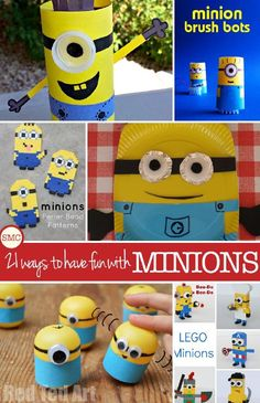 21 Minion Crafts Your Little Henchmen Will Go Crazy For!