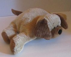 "Ganz Cuddly Cordie Dog Cordy Plush Stuffed 14"" Tan Brown Corduroy Chenille  #Ganz"