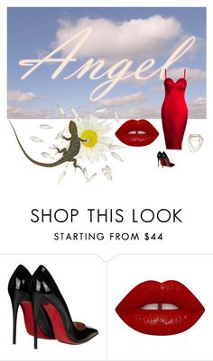 """""""//A N G E L //"""" by stfuwtf ❤ liked on Polyvore featuring Gavaskar, Christian Louboutin and Lime Crime"""