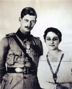 Prince Carol of Romania and his wife Zizi Lambrino, also known as Princess Ioana.  Zizi was a commoner and the young couple's marriage horrified King Ferdinand of Romania.  The king succeeded in annulling the marriage and separating his weak willed son from his wife.