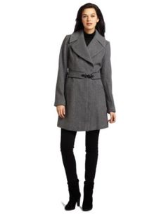 Vince Camuto Women's Belted Wool Jacket, Light Grey, Large Vince Camuto. $116.99