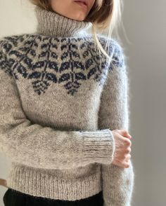 Wooly Jumper, Nordic Sweater, Knitting Charts, Knitting Patterns, Icelandic Sweaters, Creative Knitting, Fair Isle Knitting, Crochet Clothes, Clothing Patterns