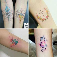 Tatuagem, tatuagem no antebraço, tatuagem feminina, tatuagem no braço, tattooo, tatuagem colorida, tatuagem de câmera, tatuagem de gato, tatuagem aquarela