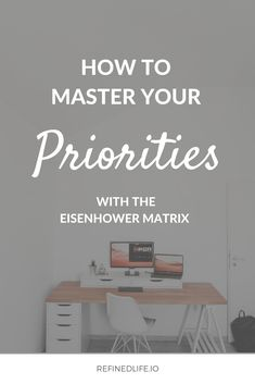 One of my favourite hacks: prioritizing my with the Eisenhower Matrix. Click through for a complete step-by-step guide. Eisenhower Matrix, Productivity Hacks, Prioritize, Training Courses, Step Guide, Mindset, I Am Awesome, Home Decor, Homemade Home Decor