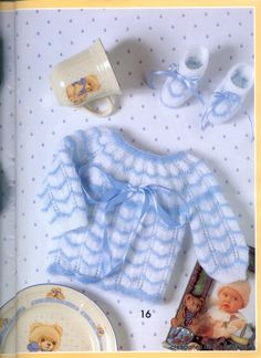 """Photo from album """"Muestras y Motivos on Yandex. Baby Knitting Patterns, Baby Hats Knitting, Easy Knitting, Baby Patterns, Crochet Patterns, Knitted Hats, Knit Or Crochet, Crochet For Kids, Knitted Baby Clothes"""