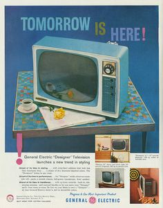 """kohoso:  General Electric """"Designer"""" Television - 1958Scan Copyright © sueism1 on Flickr.  All rights reserved."""