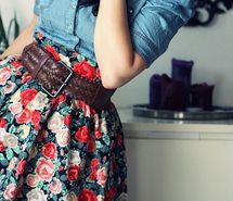 Floral skirt.