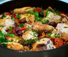 One pot pasta poulet basquaise