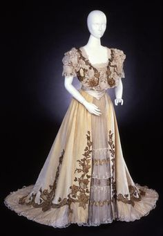 Gustave Beer evening dress, 1905 #edwardian #belle epoque From the Frick Art & Historical Center on Twitter