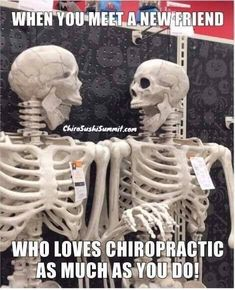 , 💀 When you meet a new friend who loves 👐 as much as you go! , 💀 When you meet a new friend who loves 👐 as much as you go! 👻 💆‍♀️ 🎃 office halloween memes 💀 When you meet a new friend who loves 👐 as much as you go! Chiropractic Quotes, Chiropractic Therapy, Chiropractic Office, Family Chiropractic, Chiropractic Wellness, Massage Quotes, Spine Health, Clinic Design, Just Dream