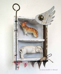 Circus by Traditional Art / Assemblage Mixed Media Boxes, Mixed Media Art, Shadow Box Art, Matchbox Art, Assemblage Art, Antique Stores, Traditional Art, Sculpture Art, Cabinets