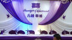 Set Up Wedding Backdrop Decor Toronto | 多伦多婚宴场地布置 | 多伦多结婚场地布置