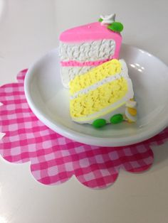 2 PC cake and white plate only accessories by QueenEmmaDesigns, $4.00