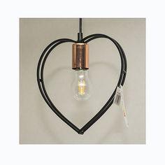 Svart hjärta är en smäcker lampa men utstrålar harmoni.
