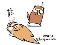 Otter Cartoon, I Wallpaper, Otters, Cute Drawings, Winnie The Pooh, Disney Characters, Fictional Characters, Kawaii, Design