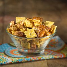 3 Cheese Pizza Snack Mix  The gang will love this snack mix, infused with Parmesan cheese and Italian seasonings..