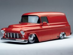 '55 Chevy panel. Yo brother. My brother had one of these. It was fun to get a ride with him once in a while, just to be in his cool van. His name was Van! Classic Chevy Trucks, Car, Vehicles, Automobile, Rolling Stock, Cars, Cars, Vehicle, Autos