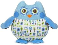 Cuddle cuties with this plush softie and its adorably bright design. With an imaginative woodland print and huggable frame, it's a wise choice for anytime a little one needs comforting. Owl Parties, Softies, Bird Houses, Cuddling, Coin Purse, Plush, Nursery, Toys, Cute