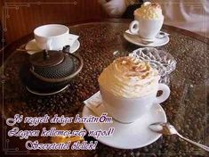 JÓ REGGELT! - donerika.lapunk.hu My Coffee, Pudding, Tableware, Desserts, Food, Google, Tailgate Desserts, Dinnerware, Deserts