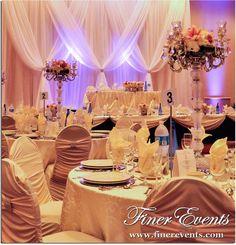 Elegant Romantic Beach Wedding Ballroom wedding reception
