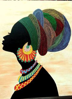 Sunkissed Ankara Necklace Jewelry - African Necklace - Ankara Jewelry - Sunkissed Marula Kente Choke Best African Head Wraps In 2019 & Where to Get Ankara ScarvesGorgeous 49 Head Wraps for African American WomenBest 12 African woman on canvas – Black Girl Art, Black Women Art, Black Art, Arte Tribal, Tribal Art, Dot Art Painting, Fabric Painting, Painting Abstract, African American Art
