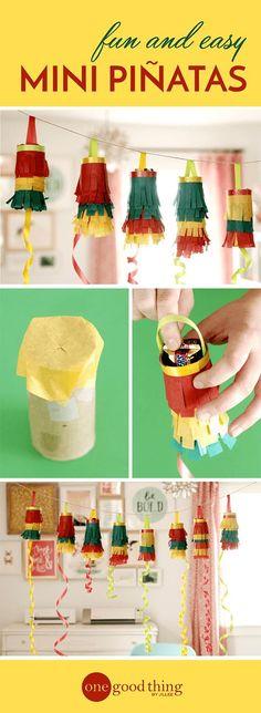 Mini Pinatas, perfect for Cinco De Mayo!