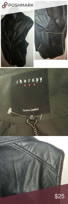 Therapy Faux Leather Vest Therapy Faux Leather Vest NWT Therapy Jackets & Coats Vests
